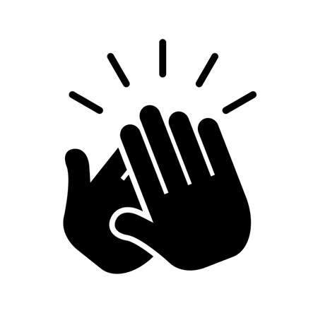 Applause clap hand icon