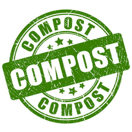 Compost vector stamp Illustration