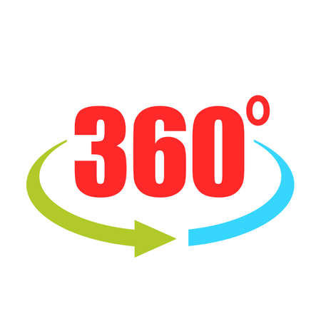 360 degree vector logo