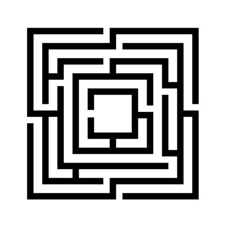 Labyrinth game vector template Illustration