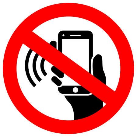 Brak telefonu używającego znaku wektora