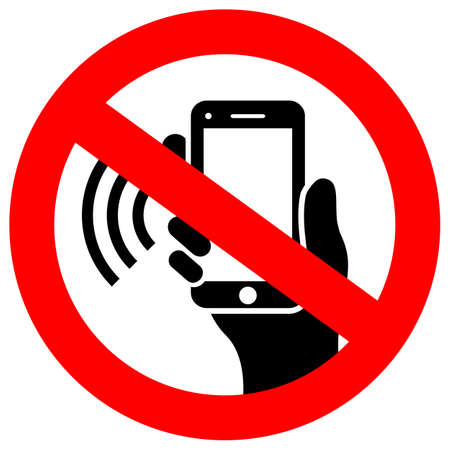 No phone using vector sign Imagens - 114186158