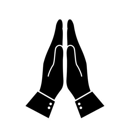 Icône de salutation namaste indien Vecteurs