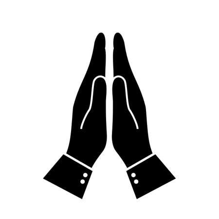 Icono de saludo namaste indio Ilustración de vector