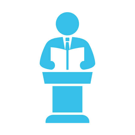 Speaker and pulpit vector icon