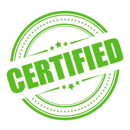 Sello de vector certificado