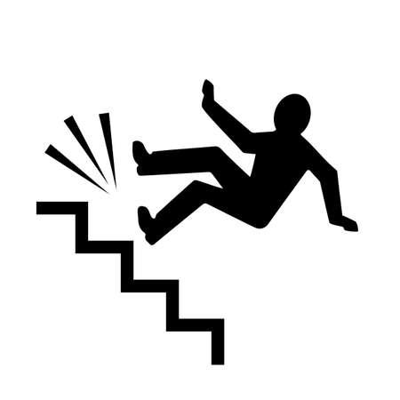 Persona cayendo por las escaleras Ilustración de vector