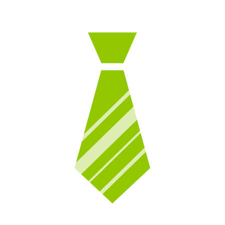 Green tie icon 向量圖像