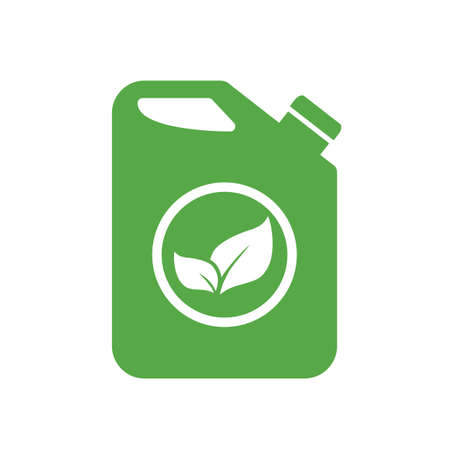 Biofuel canister vector icon