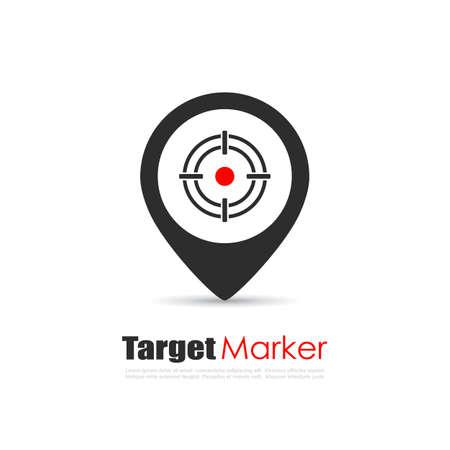 Logo vectoriel de marqueur cible