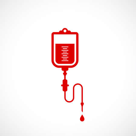 Blood pack vector icon Illustration