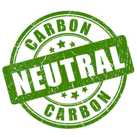 Sello verde neutro en carbono Ilustración de vector
