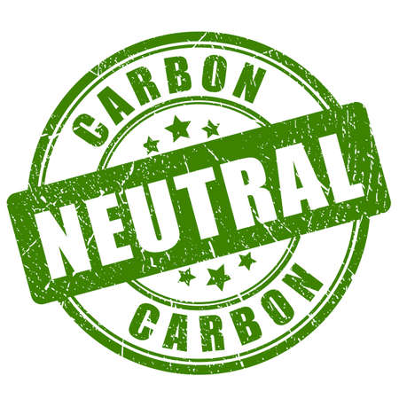Carbon neutral green stamp