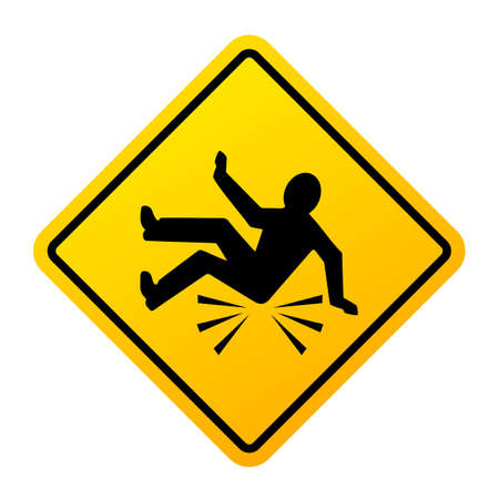 Fall danger vector sign Illustration