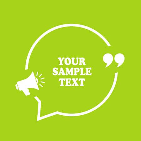 Text bubble design Ilustração Vetorial