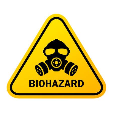 Biohazard danger vector sign