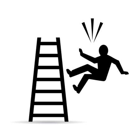 Falling from ladder vector sign