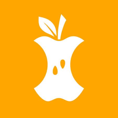 Apple core vector icon Standard-Bild - 115981197