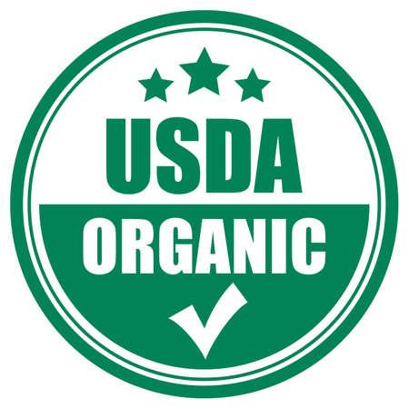 Usda organic vector icon Stok Fotoğraf - 115981203