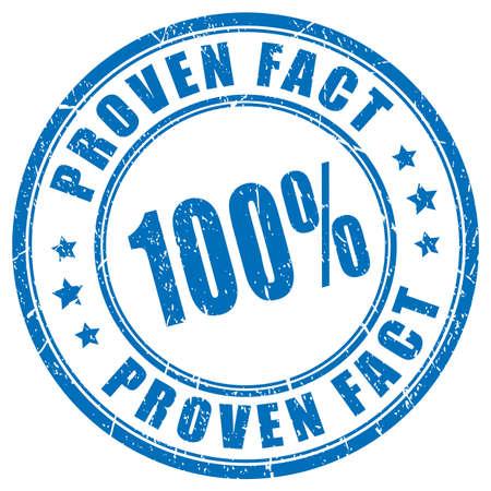 Proven fact vector stamp Illusztráció