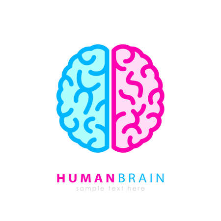 Human brain colorful logo Illustration