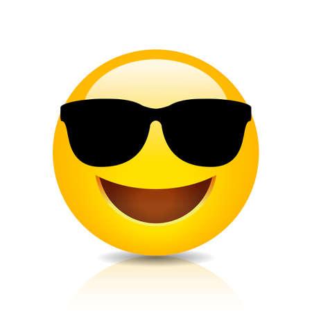 Cooles lächelndes Emoji mit Sonnenbrille