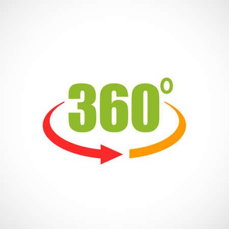 360 panorama view vector icon Иллюстрация