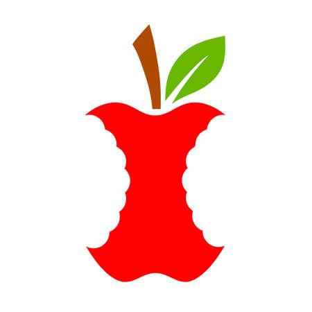 Apple stump vector icon Stock fotó - 115981288