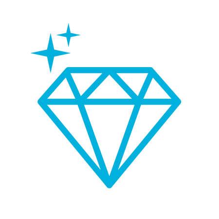 Magische Kristalllinie Vektorsymbol Vektorgrafik
