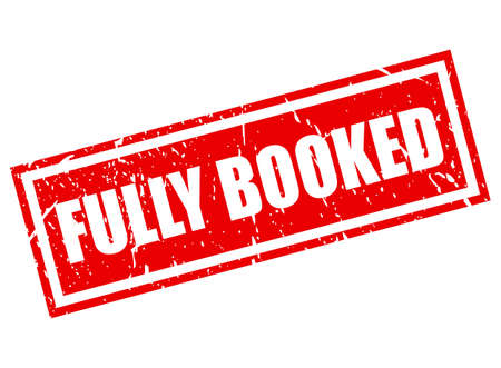 Fully booked vector stamp