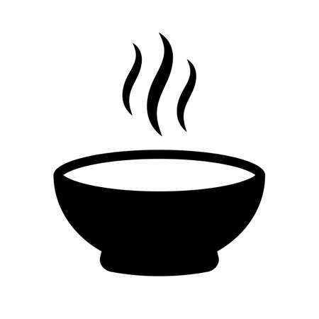 Hot soup vector icon