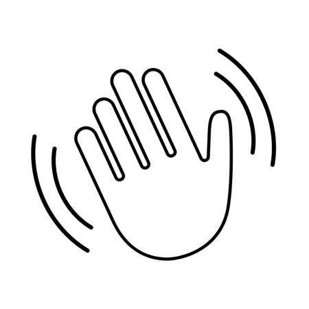 Hello wave hand vector icon