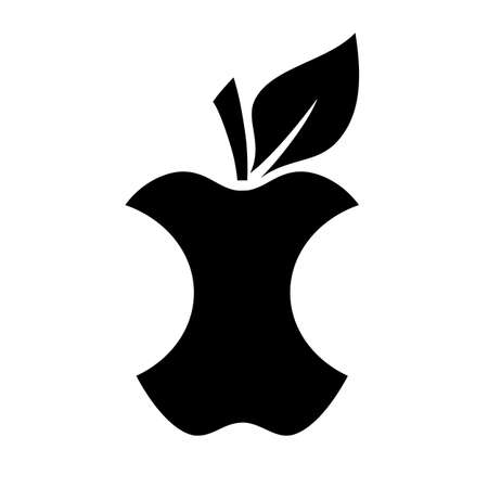 Apple core icon Illustration