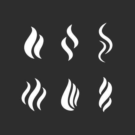 Hot steam vector shape