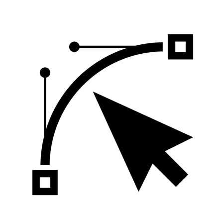 Bezier curve vector icon
