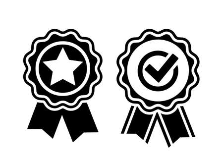 Quality certificate vector icon