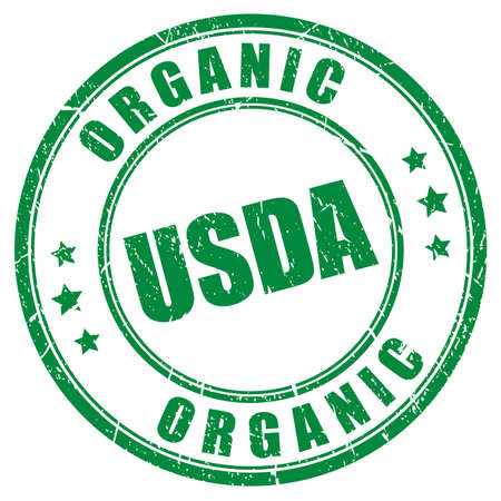 Usda organic vector stamp Illustration