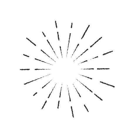 Icona dell'impulso di luce esplosiva Vettoriali