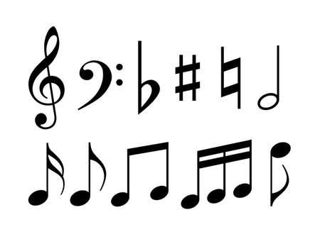 Symbole für Musiknoten