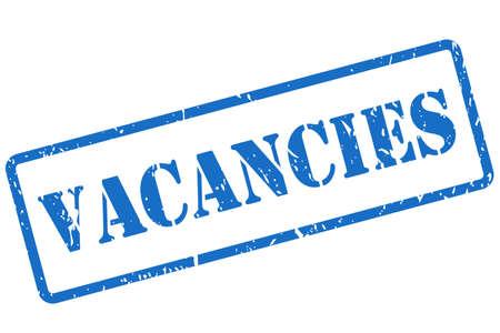 Vacancies vector stamp