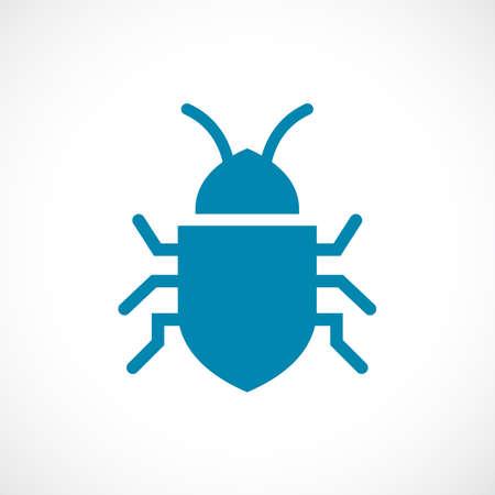 Bug vector icon Vector Illustration