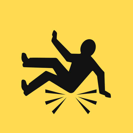 Fall down vector pictogram
