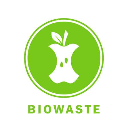 Biowaste vector icon Standard-Bild - 116944585