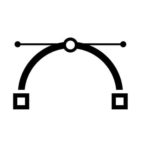 Bezier curve vector icon 向量圖像