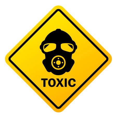 Signo de vector de peligro tóxico Ilustración de vector