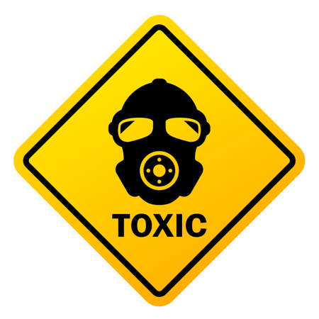 Toxic hazard vector sign