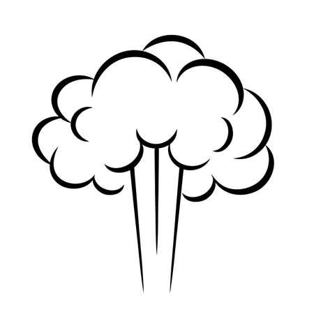 Steam puff vector icon Illustration