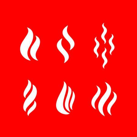 Icône de vecteur de forme de fumée