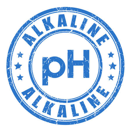 Alkaline ph balance vector stamp Иллюстрация