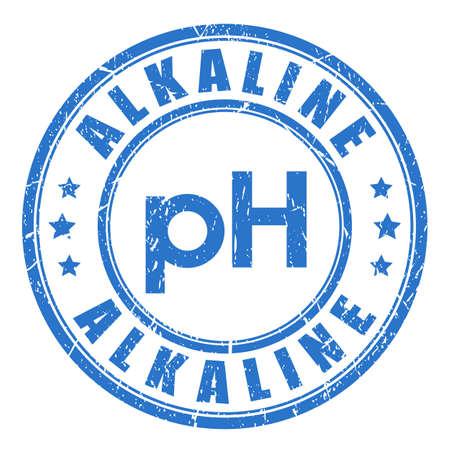 Sello de vector de equilibrio de pH alcalino